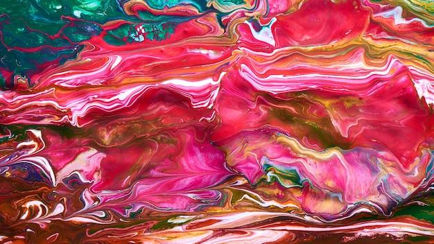 Sfondo colorato arte liquida, vernici fluide mix contrastanti. carta da parati astratta di struttura della sirena