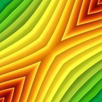 Sfondo di carta brillante colorato con molti fogli