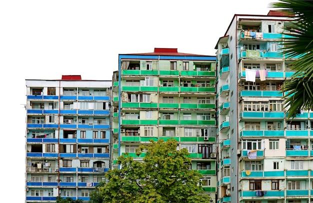 Edifici residenziali moderni colorati