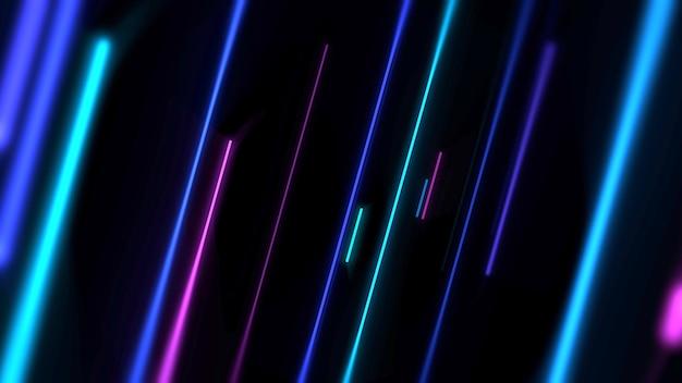 Fondo astratto di linee colorate al neon. illustrazione 3d in stile club dinamico elegante e di lusso