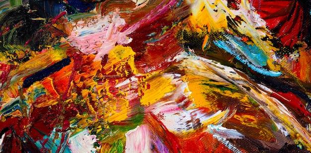 Trama di sfondo astratto tratto di pennello pittura ad olio colorata.