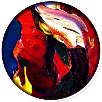 Fondo multicolore dell'estratto di struttura della pittura ad olio variopinta