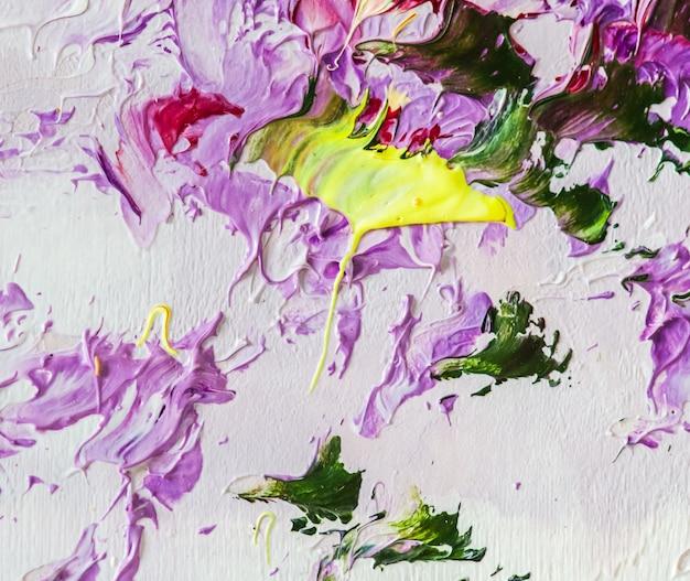 Dipinto ad olio colorato su tela arte astratta frammento di sfondo di pennellate di opere d'arte moderne