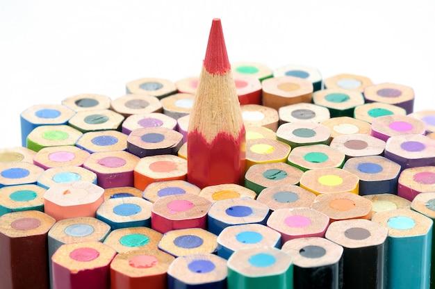 Composizione di matite colorate