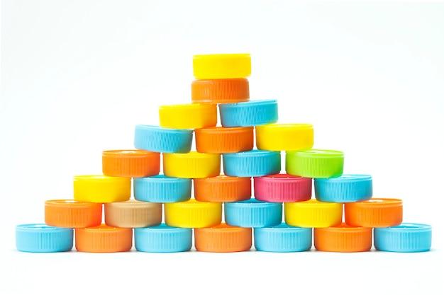 Tappi a vite per bottiglie in plastica colorata