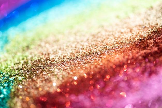 Trama di sfondo glitter arcobaleno colorato
