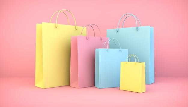 Collezione di borse colorate
