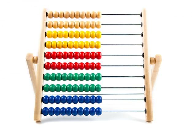 Abaco colorato giocattolo per imparare a contare