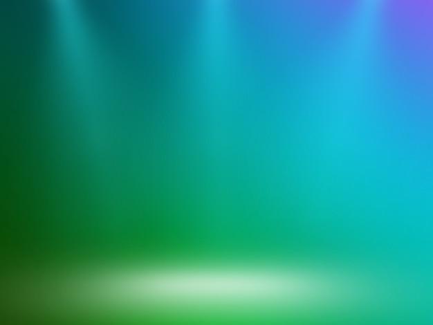 Sfondo colorato espositore da parete e da pavimento con tre luci
