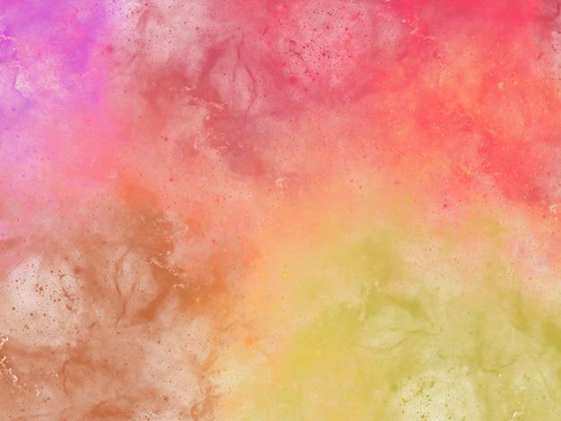 Sfondo colorato ad acquerello di cielo al tramonto astratto con nuvole gonfie in brillanti colori arcobaleno