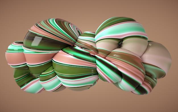 Colorfull dinamica astratta morbida forma di vetro ritorto