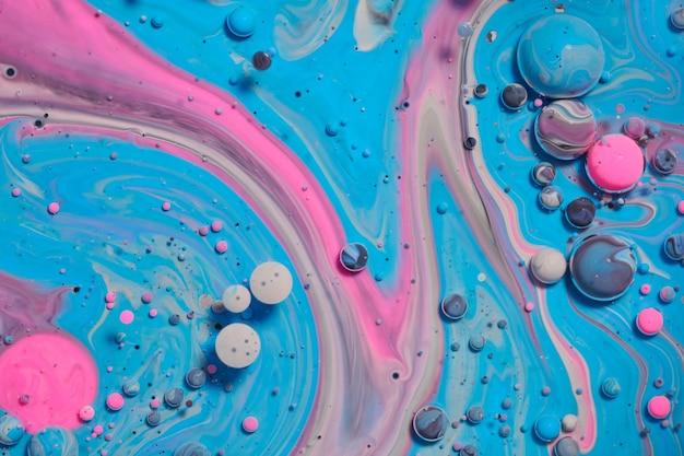 Bolle acriliche colorate. fondo di struttura mista del modello di disegno astratto dell'inchiostro. sfondo di colore liquido. modello di carta da parati. manifesto dell'olio. modello di progettazione. arte fluida
