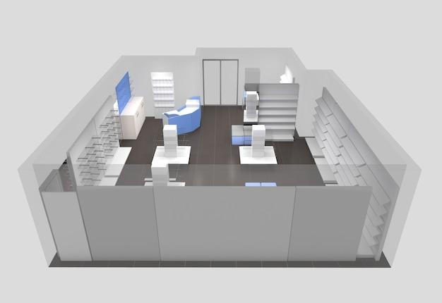 Locali commerciali, negozio, visualizzazione di interni