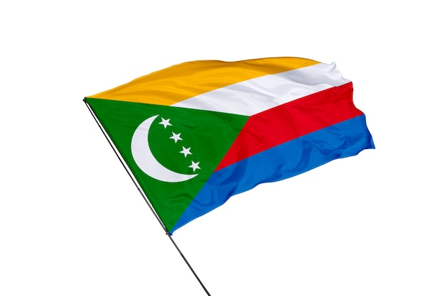 Bandiera delle comore su sfondo bianco