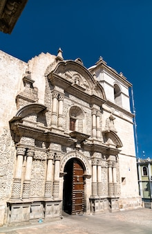 La chiesa della compania ad arequipa perù