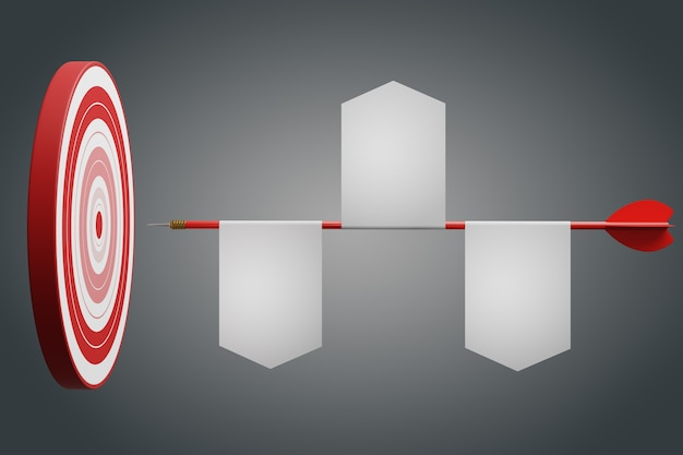 Vantaggio competitivo, concetto strategico. illustrazione 3d