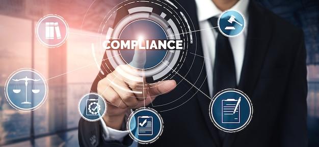 Interfaccia grafica normativa di conformità e normativa per la politica di qualità aziendale