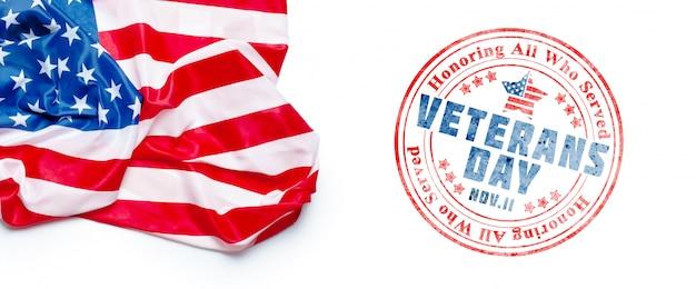 Composto della bandiera del giorno dei veterani