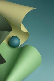 Composizione di elementi di design 3d astratti
