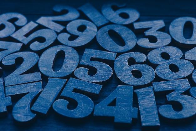 Composizione di numeri blu