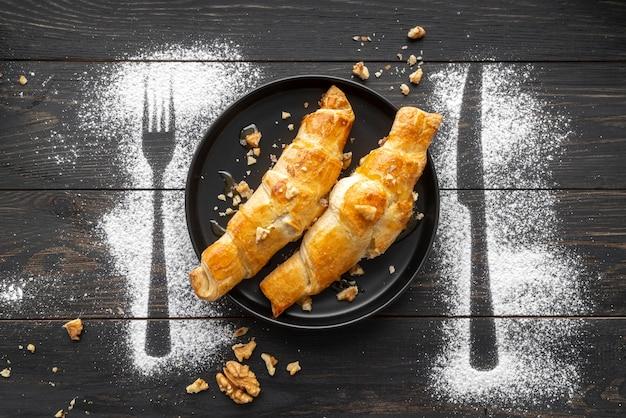 Composizione del delizioso pasto della colazione
