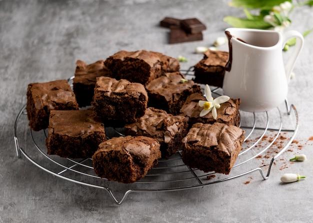 Composizione di deliziosi dolci fatti in casa