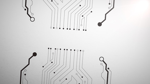 Modello di chip di computer, sfondo astratto. stile tecnologico dinamico elegante e di lusso per affari, illustrazione 3d