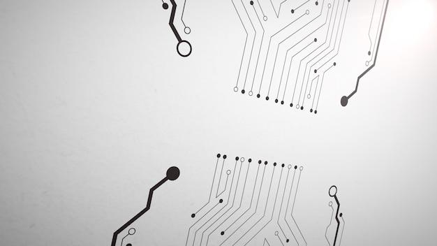 Modello di chip del computer, sfondo astratto
