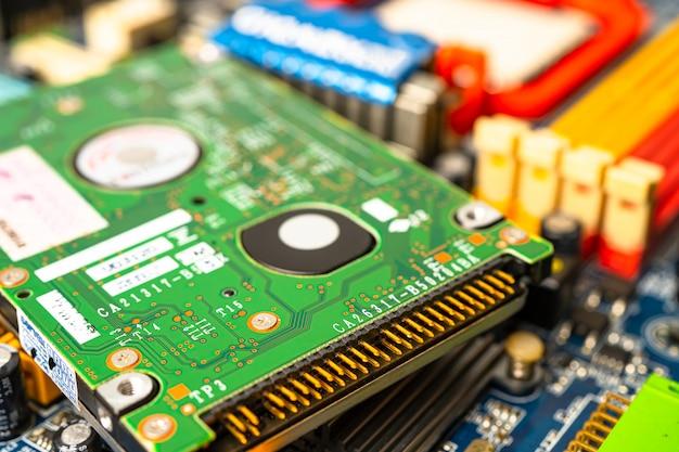 Dispositivo elettronico del processore del core della scheda madre del chip della cpu del circuito di computer.