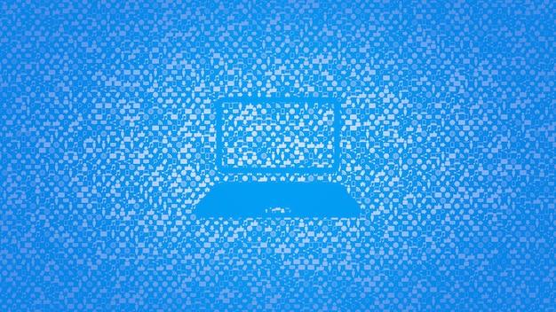 Icone del computer su sfondo di rete semplice. stile dinamico elegante e lussuoso per modello aziendale, aziendale e sociale, illustrazione 3d