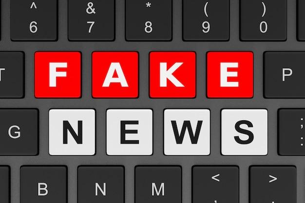 Concetto di notizie false della tastiera del computer
