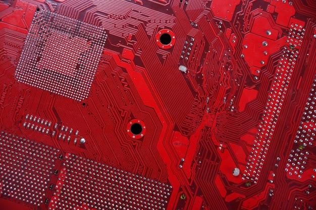 Sfondo della scheda madre del computer e componenti elettronici