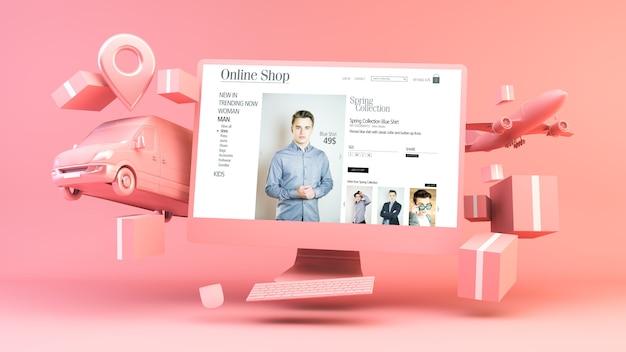 Shopping online per computer