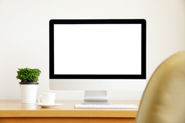 Pc schermo del computer. per affari sul tavolo