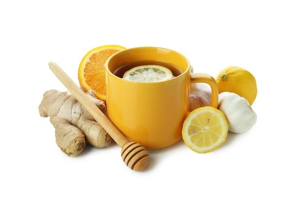Concetto di trattamento a freddo alternativo isolato su bianco