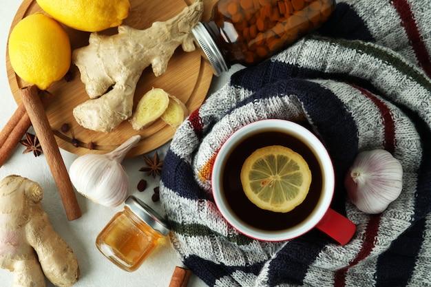 Concetto di trattamento a freddo alternativo, vista dall'alto
