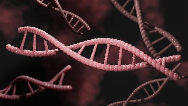 Concetto di biochimica con molecola di dna.