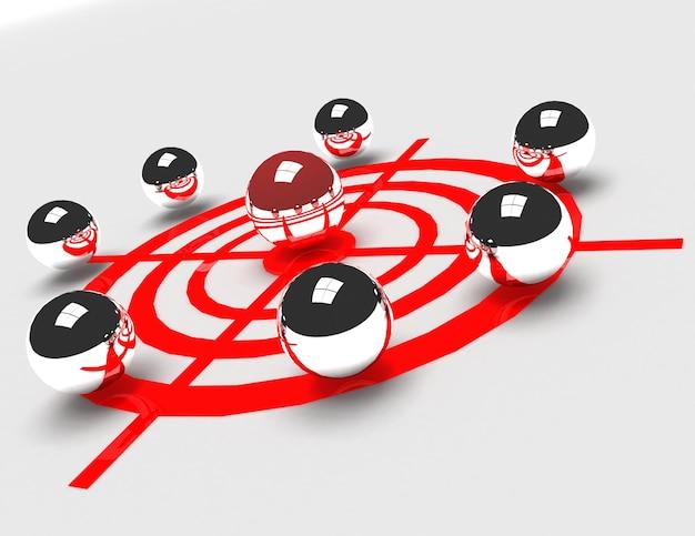 Concetto di sfida e leadership. 3d reso illustrazione