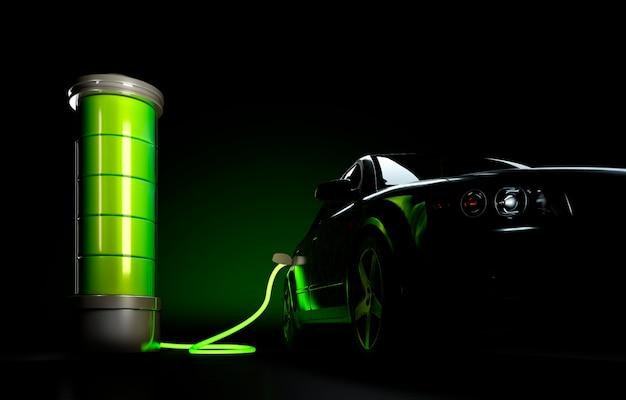 Concetto di ricarica di automobili elettriche