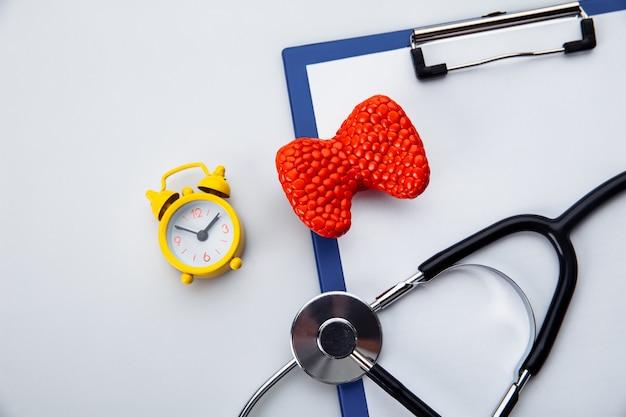 Concetto di diagnosi e rilevamento di malattie dell'organo del sistema endocrino