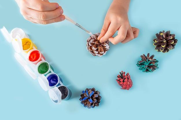Concetto di fai da te e creatività per bambini