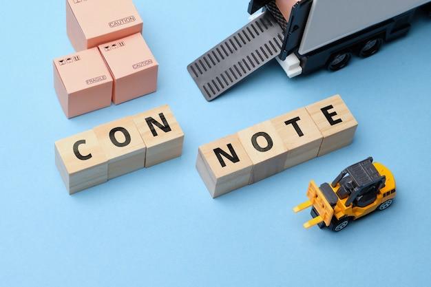Concetto di circolazione dei documenti con nota nel settore dei corrieri.