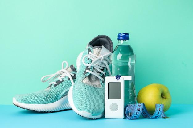 Concetto di un diabetico sano. sport diabetici