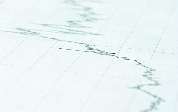 Immagine del concetto di raccolta dati e lavoro statistico: il grafico aziendale