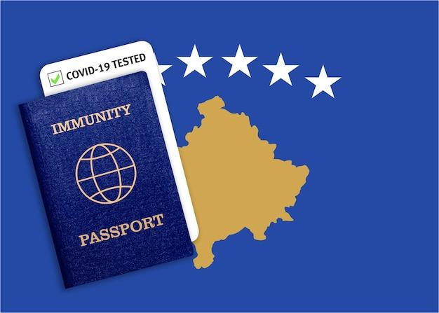 Concetto di passaporto immunitario, certificato per viaggiare dopo una pandemia per le persone che hanno avuto il coronavirus