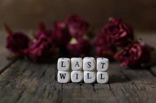 Concetto testamento e testamento