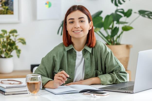 Concetto di business online o comunicazione home office freelance e telelavoro per imprenditore