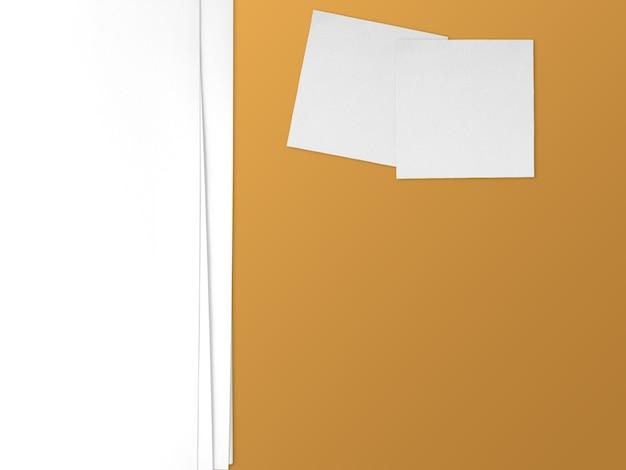 Concetto di presentazione del tema di carta con spazio vuoto. carta e note