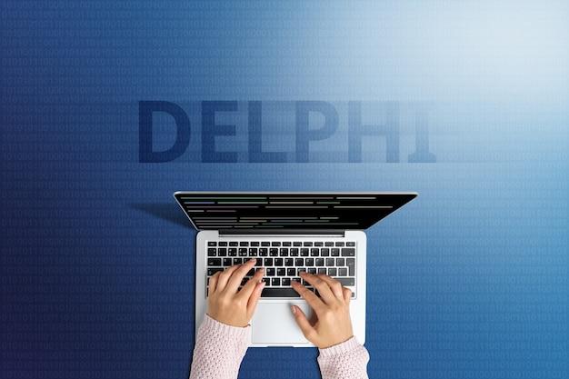 Concetto del popolare linguaggio di programmazione delphi.