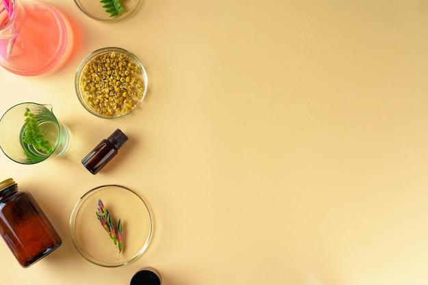 Ricerca concettuale di integratori alimentari di bellezza e cura della pelle in laboratorio